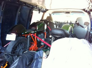 Hauling motorcycles with a van